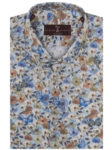 Light blue poplin print estate dress shirt robert for Robert talbott shirts sale