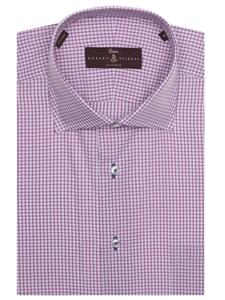 Purple and white check estate sutter classic dress shirt for Robert talbott shirts sale