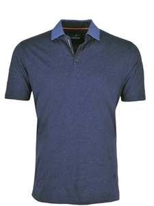 Classic Navy Cotton Jersey Polo | Stone  Rose New Arrivals | Sams Tailoring Fine Men Clothing