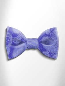 Sky Blue Paisley Silk Bow Tie | Italo Ferretti Spring Summer Collection | Sam's Tailoring