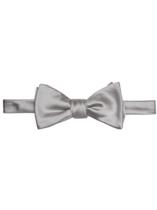 Grey Solid Satin Best of Class Bow Tie | Robert Talbott Formal Wear   | Sam's Tailoring