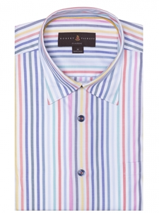 Multi-Color Twill Stripe Anderson II Classic Sport Shirt | Sport Shirts Collection | Sams Tailoring Fine Men Clothing