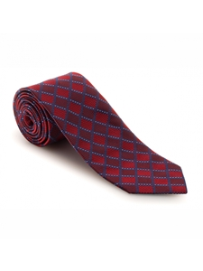 Red and Navy Geometric Academy Best of Class Tie | Best of Class Ties Collection | Sam's Tailoring Fine Men Clothing
