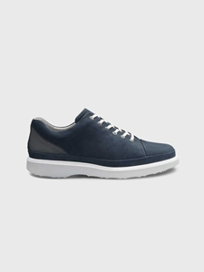 Navy Nubuck / Light Grey Sole Hubbard Fast For Him Shoe | Men's Casual Shoes | Sam's Tailoring Fine Men Clothing