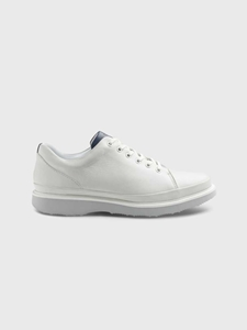 White Full Grain / Light Grey Sole Hubbard Fast For Him Shoe | Men's Casual Shoes | Sam's Tailoring Fine Men Clothing