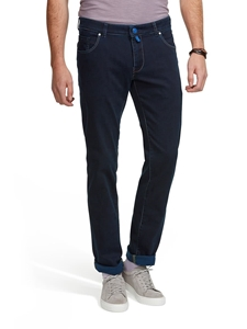 Black-Blue M5 Slim Super Stretch Clear Denim | Meyer Denim - Five Pocket | Sam's Tailoring Fine Mens Clothing