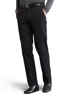 Black Roma Regular Fit Soft Cotton Chino | Meyer Trousers/Chinos |  Sam's Tailoring Fine Men Clothing
