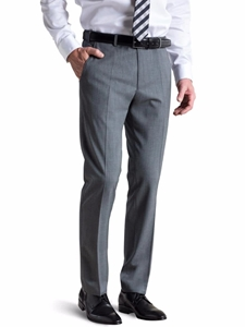 Light Grey Bonn Feingabardine Bi Stretch Trouser | Meyer Trousers/Chinos |  Sam's Tailoring Fine Men Clothing