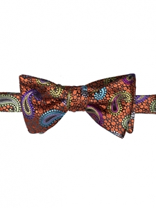 Robert talbott Rust speckled Boc-cannary Row Bow Tie 589062C-01| Sam's Tailoring Fine Men's Clothing