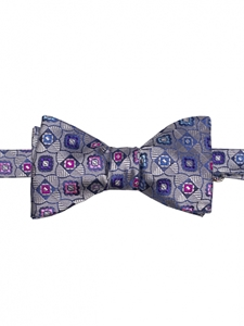 Robert talbott Silver Boc-welch margetson geometric bow tie 591412C-03| Sam's Tailoring Fine Men's Clothing