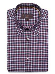Robert Talbott Navy Blue And Red Plaid Check Classic Fit Sports Shirt LUM28021-01|Sam's Tailoring Fine Men's Clothing