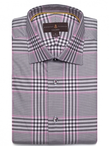 Robert Talbott Pink, White and Black Plaid Classic Fit Sports Shirt LUM28000-01|Sam's Tailoring Fine Men's Clothing