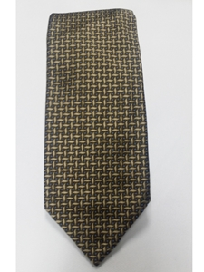 Robert Talbott Army With Geometric Pattern 7 Fold Sudbury Tie 321123-63|Sam's Tailoring Fine Men's Clothing