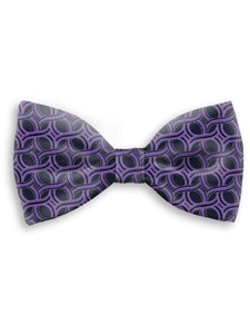 Black and Violet Sartorial Handmade Silk Bow Tie | Bow Ties Collection | Sam's Tailoring Fine Men Clothing