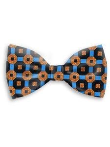 Black, Sky & Tan Sartorial Handmade Silk Bow Tie | Bow Ties Collection | Sam's Tailoring Fine Men Clothing