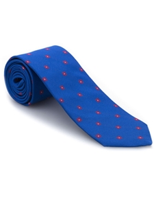 Blue with Red Neat Best of Class Tie | Best of Class Collection | Sam's Tailoring Fine Men's Clothing