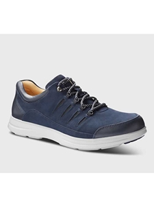 Midnight Blue Nubuck With Grey Sole Casual Shoe | Men's Spring Causal Shoes | Sam's Tailoring Fine Men Clothing