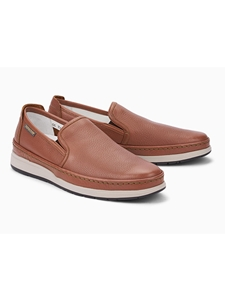 Hazelnut Smooth Leather Flat Heel Slip-On Shoe | Mephisto Loafers Collection | Sam's Tailoring Fine Men Clothing