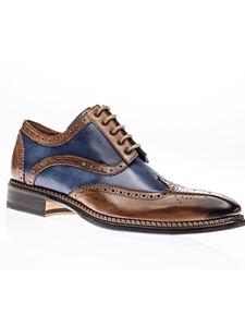 Cuoio Blue Veloce Wingtip Derby Shoe | Jose Real Shoes Collection | Sam's Tailoring Fine Men Clothing