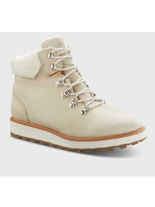 White Nubuck Genuine Rubber Sole Women's Boot | Fine Women's Boots | Sam's Tailoring