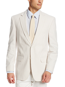 Brock Tan/White Seersucker Suit Separate Jacket | Palm Beach Seasonal Separate Jackets & Pants | Sam's Tailoring Fine Men's Clothing