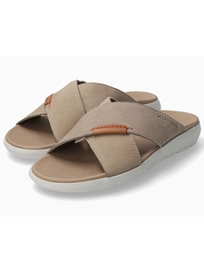 Sand Nubuck Smooth Leather Men's Sandal | Mephisto Sandals Collection | Sam's Tailoring Fine Men Clothing