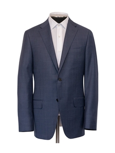 Slate Blue Glen Plaid Tasmanian Stretch Suit | Hickey Freeman Suits | Sam's Tailoring Fine Men Clothing