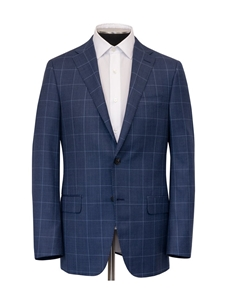 Blue Birdseye Windowpane Infinity B-Fit Suit | Hickey Freeman Suits | Sam's Tailoring Fine Men Clothing