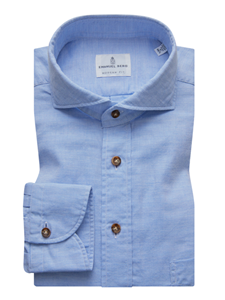 Sky Blue Enzyme Washed Fine Men's Shirt | Casual Shirts Collection | Sam's Tailoring Fine Men's Clothing