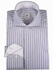 Robert talbott pink and lavender striped estate shirt for Robert talbott shirts sale