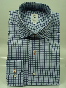 Robert talbott blue check with sky blue twill estate shirt for Robert talbott shirts sale