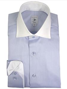 Robert talbott estate blue herringbone dress shirt for Robert talbott shirts sale