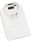 F.A. MacCluer White Classic Pinpoint Solid Buttondown Sport Shirts F700580-001 - Sport Shirts | Sam's Tailoring Fine Men's Clothing