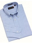 F.A. MacCluer Blue Classic Pinpoint Solid Buttondown Sport Shirts F700580-500 - Sport Shirts | Sam's Tailoring Fine Men's Clothing