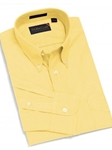 F.A. MacCluer Yellow Classic Pinpoint Solid Buttondown Sport Shirts F700580-100 - Sport Shirts | Sam's Tailoring Fine Men's Clothing