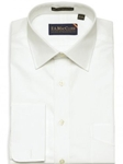 F.A. MacCluer White 80's 2 Ply Broadcloth French Cuff Spread Collar I584464-001 - Dress Shirts Solids | Sam's Tailoring Fine Men's Colthing
