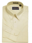 F.A. MacCluer Ecru Classic Pinpoint Buttondown I700480-200 - Dress Shirts Solids | Sam's Tailoring Fine Men's Clothing