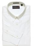 F.A. MacCluer White Classic Pinpoint Solid Big & Tall Button Down I700488-001 - Dress Shirts Solids 80s 2PLY Shirts | Sam's Tailoring Fine Men's Clothing