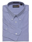 F.A. MacCluer Blue Classic Pinpoint Solid Big & Tall Button Down I700488-500 - Dress Shirts Solids 80s 2PLY Shirts | Sam's Tailoring Fine Men's Clothing