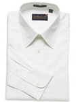 F.A. MacCluer White Classic Pinpoint Solid Big & Tall Point Collar I700433-001 - Dress Shirts Solids | Sam's Tailoring Fine Men's Clothing