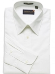 F.A. MacCluer White Classic Pinpoint Solid Point Collar I700431-001 - Dress Shirts Solids 80s 2PLY Shirts | Sam's Tailoring Fine Men's Clothing