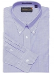 F.A. MacCluer Mid Blue Windowpane Buttondown Dress Shirts I604481-520 - Dress Shirts Patterns and Stripes 80s 2PLY Shirts | Sam's Tailoring Fine Men's Clothing