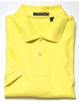 F.A. MacCluer Maize Solid Pique Polo Solid Polos F003500-103 - Knit Shirts and Polos | Sam's Tailoring Fine Men's Clothing