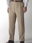 Hart Schaffner Marx Gabardine Tan Double Pleat Trouser 535215465719 - Trousers | Sam's Tailoring Fine Men's Clothing