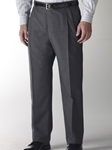 Hart Schaffner Marx Gabardine Grey Double Pleat Trouser 535215464719 - Trousers | Sam's Tailoring Fine Men's Clothing