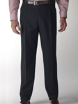 Hart Schaffner Marx Gabardine Black Double Pleat Trouser 535215467719 - Trousers | Sam's Tailoring Fine Men's Clothing