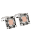 Tateossian London Silver with 18k Rose Gold Snake Square CL0733 - Cufflinks | Sam's Tailoring Fine Men's Clothing