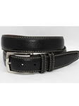 Black American Bison Belt 55050 - Torino Leather Exotic Belts | Sam's Tailoring Fine Men's Clothing