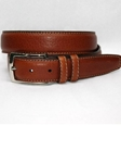 Tan American Bison Belt 55057 - Torino Leather Exotic Belts | Sam's Tailoring Fine Men's Clothing
