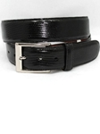 Black Genuine Lizard Belt 5150 - Torino Leather Exotic Belts | Sam's Tailoring Fine Men's Clothing